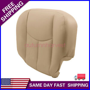 For 2003 2004 2005 2006 Chevy Tahoe Driver Bottom Seat Cover Shale Light Tan Fits Tahoe
