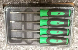 New Snap On Green Instinct Handle Mini Screwdriver Set Sgdx40bg Awesome