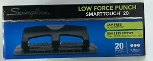 Swingline 3 Hole Punch Smart Touch 20 Low Force 20 Sheets Punch Capacity New