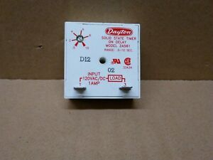Dayton Solid State Time Delay Relay 2a561