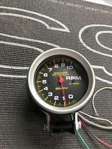 Autometer 6601 Pro comp Air core Pedestal Tach 10k Rpm 3 3 4