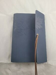 Leather Writing Journal Notebook Classic Spiral Bound Blue Notebook