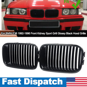 Glossy Black Front Kidney M Sport Grill Grille For Bmw E36 3 Serise 1992 1996