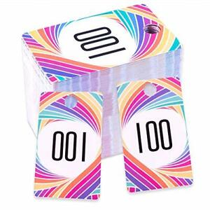 Live Sale Number Tags Plastic Mirrored Numbers Sales Tag Cards Consecutive Card