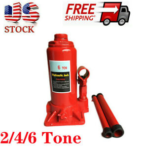 2 6 Ton Hydraulic Bottle Jack Heavy Duty Stand Auto Shop Jack Car Repair Tool Us