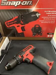 Snap On 14 4v Lithium Cordless Drill Set Cdr761b Red