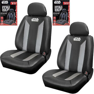 Pair Disney Star Wars Sideless Seat Covers W Cargo Pocket For Car Truck Suv