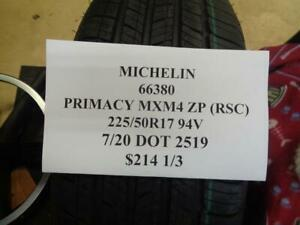 2 New Michelin Primacy Mxm4 Zp Rsc Bmw 225 50 17 94v Tires 66380 Q1