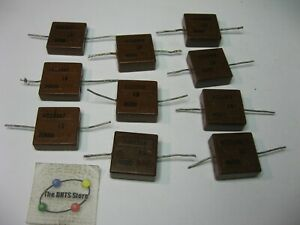 Silver Mica Domino Capacitor Grab bag Northern Electric Used Pulls Qty 10
