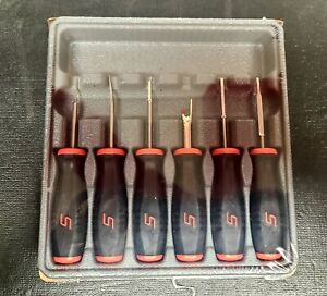 New Snap On Red And Black 6pc Soft Grip Terminal Tool Set Usa Sgtt106a
