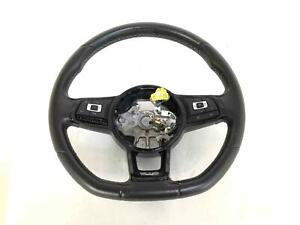 Black Leather Steering Wheel Vw Golf R 15 16 Manual Missing Lh Button Scuffed