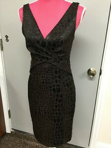 FRANK LYMAN 4 US*6 UK CROC LEATHER LOOK Cocktail Special Dress Textured 1 393 0 $119.00