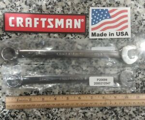 Craftsman Professional Full Polish Metric Wrenches 18mm 19mm New Made In Usa
