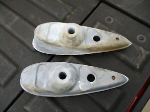 1937 Chevy Car Headlight Stands Side Of Grille Shell Original