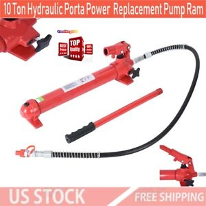 10 Ton Hydraulic Porta Power Replacement Pump Ram 4 Long High Pressure Hose