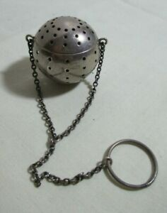 Blackinton Co Sterling Silver Round Tea Infuser Ball With Chain
