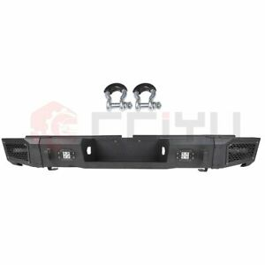 Textured Heavy Duty Rear Bumper Guard With Led Lights For 07 13 Toyota Tundra