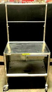 Stainless Steel Rolling Utility Work Cart W Shelves Drawer 36 X 24 X 37 h