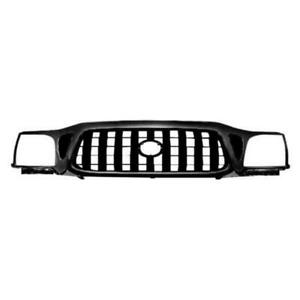 For 2001 2004 Toyota Tacoma Dlx Pre Runner S Runner Front Bumper Grille Black