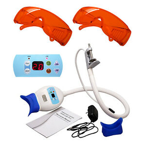 Electric Dental Whitening Lamp Teeth Bleaching System Led Light 2 Goggles Glass