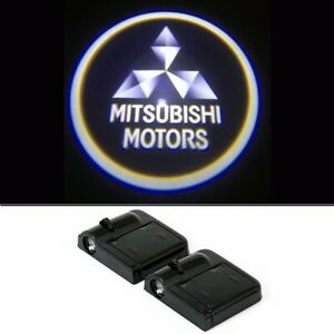 2x Wireless Car Door Led Welcome Laser Projector Logo Ghost Light mitsubishi