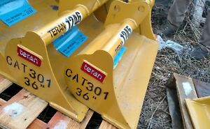 Heavy Duty Cat 301 36 Excavator Grading Ditching Cleaning Bucket 30mm Pins