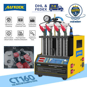 Ct160 Fuel Injector Cleaner Tester Ultrasonic Cleaning Machine For Car Motor