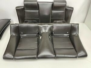 2005 2009 Oem Ford Mustang Convertible Base Rear Black Leather Back Seats t46