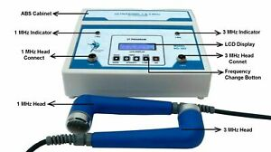 New Ultrasound Physical Therapy Dual 1mhz 3mhz 27 Preset Program Equipment 3hp
