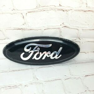 Ford Front Or Rear Emblem Black And Chrome 9 X 3 5 New
