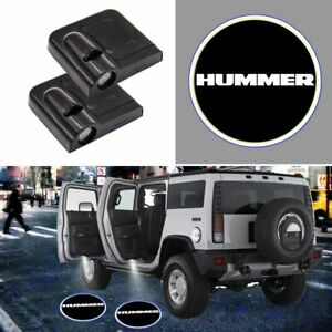 2x Wireless Car Door Led Welcome Laser Projector Logo Ghost Light hummer