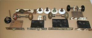 Antique Door Knobs Face Plates Lock Mechanisms 1878 1889 And More Brass Glass