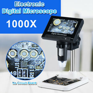 1000x 4 3 Lcd Monitor Electronic Digital Video Microscope Led Hd Magnifier