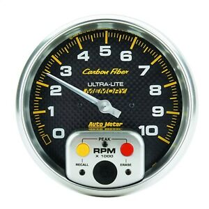 Autometer 4894 Carbon Fiber Electric In Dash Tachometer
