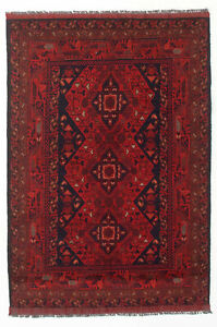Vintage Hand Knotted Carpet 3 3 X 4 10 Traditional Oriental Wool Area Rug