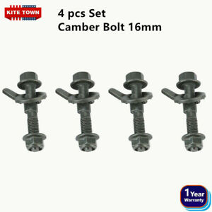 Front Camber Alignment 16mm Adjustable Cam Bolts Kit 4 Bolts Fit Many Models