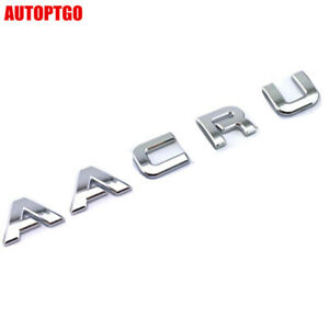 Chrome Rear Trunk Letter Emblem Badge Decal For Acura Mdx Nsx Rdx Rlx Rsx Tl Tsx