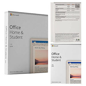 Microsoft Office Home And Student 2019 1pc Windows 1 License Produst Key Card