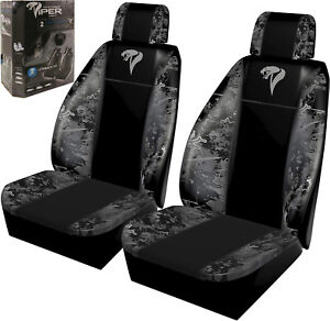 2 Pk Low Back Seat Covers True Timber Viper Urban Camo Airbag Compliant