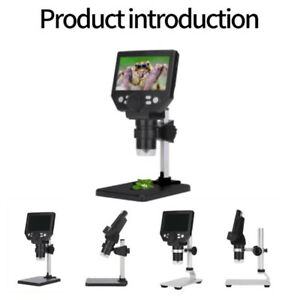 4 3 1000x Hd Lcd Monitor Electronic Digital Video Microscope 8 Led Magnifier