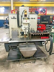 Willis Btm 40 Cnc Vertical Bed Mill Milling Machine With Anilam 3000m Control