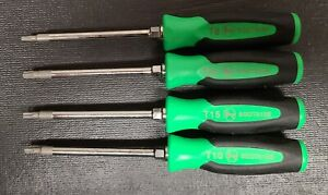 New Snap On Green Mini Torx Screwdriver Set Usa sgtx40bg