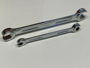 Snap on Tools 2 Pc Double Flare Nut Line Wrench Set Rxh1214s Rxh2426s Usa