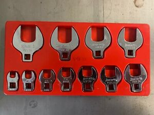 Snap On 11pc 3 8 Drive Sae Open End Crowfoot Wrench Set 3 8 1