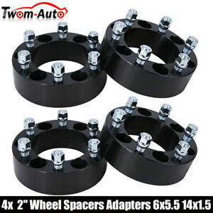 4 2 Inch 6x5 5 Hub Centric Wheel Spacers For Chevy K1500 Tahoe Gmc Sierra 1500