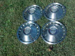 Vintage 4 1963 Ford Galaxie 500 Fairlane 14 Hubcaps Wheel Cover Set Fomoco