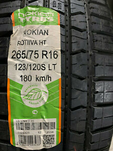 4 New Lt 265 75 16 Lre 10 Ply Nokian Rotiiva H T Tires