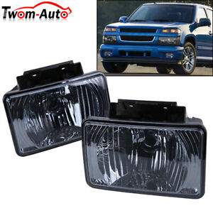 For 04 12 Chevy Colorado Gmc Canyon Bumper Driving Fog Lights Lamp Smoke Lens Us