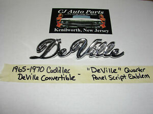 New 1965 1970 Cadillac Convertible deville Quarter Panel Fender Script Emblem
