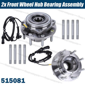 Set 2 Front Wheel Hub Bearing Assemblies For Ford F 250 F 350 Super Duty 4wd